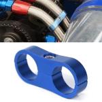 AN8 Automotive 2-hole High Pressure Tubing Fixing Clip Car Tubing Clamp Aluminum Alloy Clip Tubing Separator, Random Color Delivery