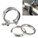 2 inch Car Turbo Exhaust Downpipe V-Band Clamp Stainless Steel 304 Flange Clamp