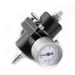 0-140PSI Universal Car Fuel Pressure Regulator with Gauge Adjustable Oil Pressure Regulator