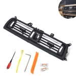 Car Plating Center Console Grill Dash AC Air Vent 64229166885 for BMW 5 Series, with Installation Tools