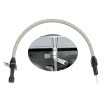 Car Flexible Stainless Transmission Oil Dipstick 530mm Oil Measuring Rod for Chevrolet (Black)
