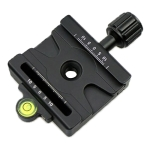 FMA-60 Dual-use Knob Quick Release Clamp Adapter Plate Mount for Arca Swiss / RRS / SUNWAYFOTO Quick Release Plate