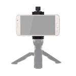 ADAI Portable Foldable Metal Clip Mobile Phone Holder Clamp Bracket (Black)