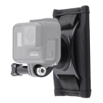 Hook and Loop Fastener Backpack Rec-Mounts Clip Clamp Mount with Screw for DJI Osmo Action, GoPro NEW HERO / HERO7 /6 /5 /4, and Other Action Cameras