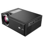 Cheerlux C8 1800 Lumens 1280×800 720P 1080P HD WiFi Smart Projector, Support HDMI / USB / VGA / AV (Black)