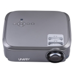UHAPPY U76 Single LCD Panel 1080P LED HD Mini Projector with Remote Control, Support AV / VGA / USB  x 2 / HDMI x 2 / Y.Pb.Pr (Grey)