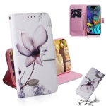 Painting Pattern Coloured Drawing Horizontal Flip Leather Case with Holder & Card Slots & Wallet for LG K50(Magnolia)