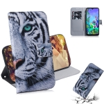 Painting Pattern Coloured Drawing Horizontal Flip Leather Case with Holder & Card Slots & Wallet for LG Q60(Tiger)