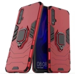 PC + TPU Shockproof Protective Case with Magnetic Ring Holder for Huawei Nova 5 Pro(Red)