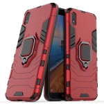 PC + TPU Shockproof Protective Case with Magnetic Ring Holder(Red)