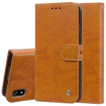 Business Style Oil Wax Texture Horizontal Flip Leather Case for Xiaomi Redmi 7A, with Holder & Card Slots & Wallet(Brown)