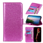 Glitter Powder Waterproof Horizontal Flip Leather Case with Card Slots & Holder for OnePlus 7(Purple)