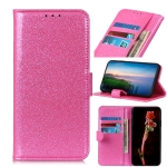 Glitter Powder Waterproof Horizontal Flip Leather Case with Card Slots & Holder for OnePlus 7 Pro(Pink)
