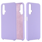 Solid Color Liquid Silicone Dropproof Protective Case for Huawei Honor 20(Purple)