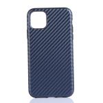 Carbon Fibre TPU Protective Case for iPhone XI Max (2019)(Blue)