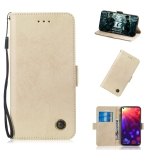 Multifunctional Horizontal Flip Retro Leather Case with Card Slot & Holder for Huawei Mate 20 X(Gold)