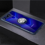 Scratchproof TPU + Acrylic Ring Bracket Protective Case For Huawei Honor View 20(Navy Blue)