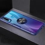 Scratchproof TPU + Acrylic Ring Bracket Protective Case For Huawei Nova 4e(Blue)