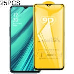 25 PCS 9D Full Glue Full Screen Tempered Glass Film For OPPO Realme X Lite