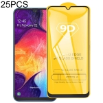 25 PCS 9D Full Glue Full Screen Tempered Glass Film For Galaxy A10