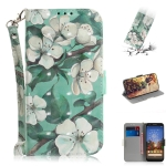 3D Painting Watercolor Flower Pattern Coloured Drawing Horizontal Flip Leather Case for Google Pixel 3a XL, with Holder & Card Slots & Wallet