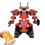 MoFun BB13001 2.4GHz Four-way Remote Control Assembling Blocks DIY Assembled Electric Robot Robert M1, Support APP Remote Control