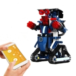 MoFun BB13002 2.4GHz Four-way Remote Control Assembling Blocks DIY Assembled Electric Robot Robert M2, Support APP Remote Control