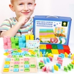 200 PCS Digital Computing Dominoes Children Building Blocks Toys, Suitable for Age: 3-7 Years Old