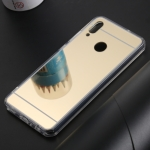 Ultra-thin Electroplating Mirror Acrylic TPU Protective Back Cover Case for Huawei Honor 10 Lite (Gold)