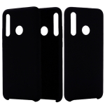 Solid Color Liquid Silicone Dropproof Protective Case for Huawei Honor 10i(Black)