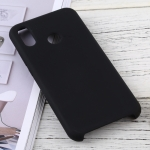 Solid Color Liquid Silicone Dropproof Protective Case for Huawei P20 Lite (Black)