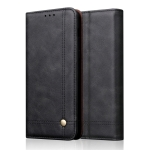 Casual Style Retro Crazy Horse Texture Horizontal Flip Leather Case for Huawei Y7 Pro (2019) / Enjoy 9, with Card Slots & Holder & Wallet (Black)