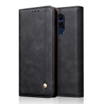 Casual Style Retro Crazy Horse Texture Horizontal Flip Leather Case for Huawei Honor 8X, with Card Slots & Holder & Wallet (Black)