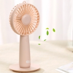 XO MF03 Multi-function Portable USB Charging Mini Mirror Electric Handheld Fan, with 3 Speed Control (Pink)