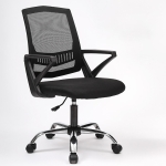 TO-329 Computer Chair Office Chair Home Back Chair Comfortable Simple Desk Chair Sliding Wheelchair (Black)