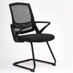 TO-329 Computer Chair Office Chair Home Back Chair Comfortable Simple Desk Chair Black Frame Bow Chair (Black)