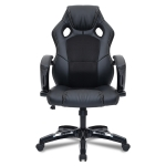 0653 Computer Office Chair Home Gaming Chair Rotating Lifted Chair with Nylon Feet (Black)
