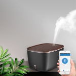 GX.Diffuser GX-22K 24W Wood Texture Intelligent Household Aromatherapy Humidifier with Colorful Atmosphere Lights, Support WiFi Connection & Voice / APP Control, Water Tank Capacity: 1.8L(Black)