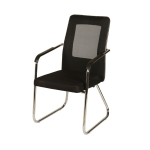 Bow Mesh Office Chair Home Computer Conference Chair Staff Chair (Black)