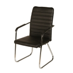 Bow Office Chair Leather Chair Home Computer Conference Chair Staff Chair (Black)