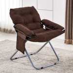 Creative Lazy Folding Sofa Living Room Single Sofa Chair Tatami Lounge Chair (Coffee)