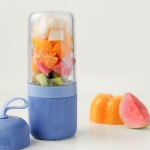 MIT-004 Vitamer Portable Rechargeable Electric Juicer Squeezer, Capacity: 400ml (Blue)