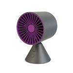 FREEDO Multi-function Adjustable Free Shaking Head Design USB Charging Desktop Electric Fan, Support 3 Speed Control (Black)