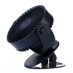 Multi-function Adjustable USB Charging Desktop Clip Electric Fan, Support 3 Speed Control (Blue)