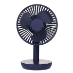 Adjustable Angle USB Charging Mute Desktop Electric Fan, Support 5 Speed Control (Blue)
