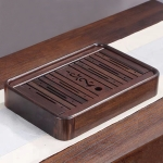 Household Ebony Water Storage Tea Tray Kung Fu Teaware, Size: 36 x 24 x 6cm