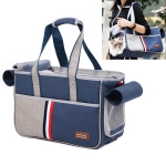 DODOPET Outdoor Portable Oxford Cloth Cat Dog Pet Carrier Bag Handbag Shoulder Bag, Size: 29 x 20 x 51cm (Blue)