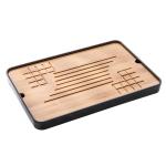 Bamboo Heat Insulation Portable Tea Tray Tea Table, Size: 35x23x3.2cm