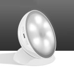 Creative Rechargeable LED Human Body Induction Smart Light for Room Bathroom Corridor Wardrobe(White)