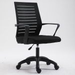 Home Leisure Computer Chair Office Staff Conference Chair Black Frame Lifting Nylon Foot (Black)